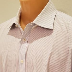 Charles Tyrwhitt Shirts - Charles Tyrwhitt men's striped cotton shirt sz 19